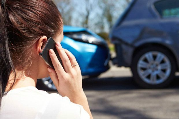 driver calling for uninsured motorist coverage after a car accident