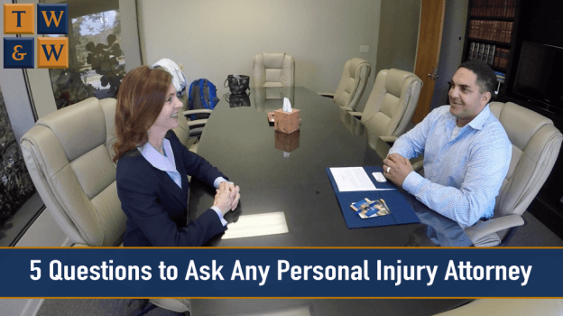 Personal injury attorney meeting with client