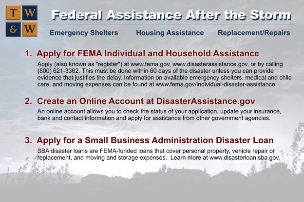 Infographic - Financial assistance after a storm