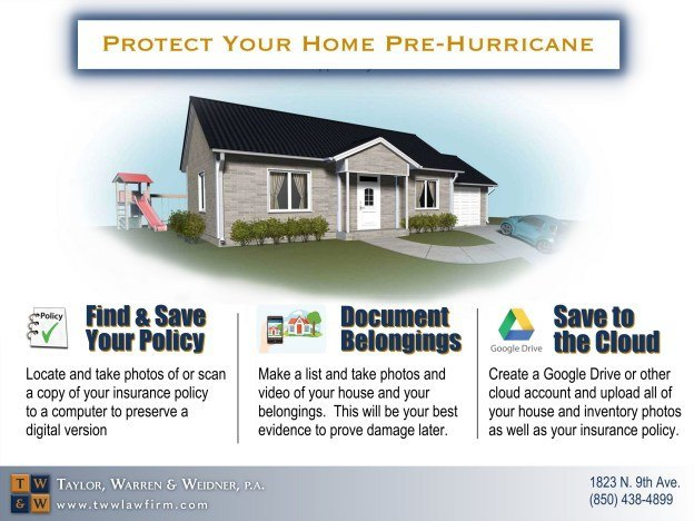 infographic how to protect and document your home and belongings pre-hurricane