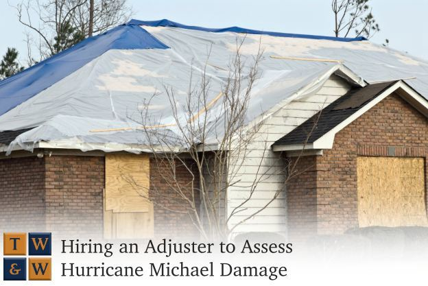 hiring a public adjuster to assess damage from hurricane michael
