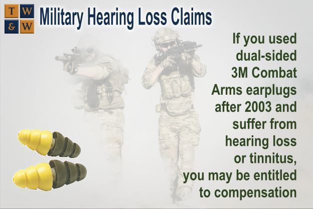 If you wore dual-sided Combat Arms 3M Earplugs™ after 2003 and suffer    from tinnitus or hearing loss, you   may be entitled to compensation