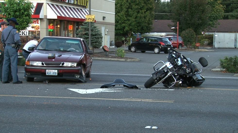 Fatal motorcycle vs car accident
