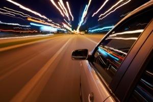 aggressive driving car speeding on highway