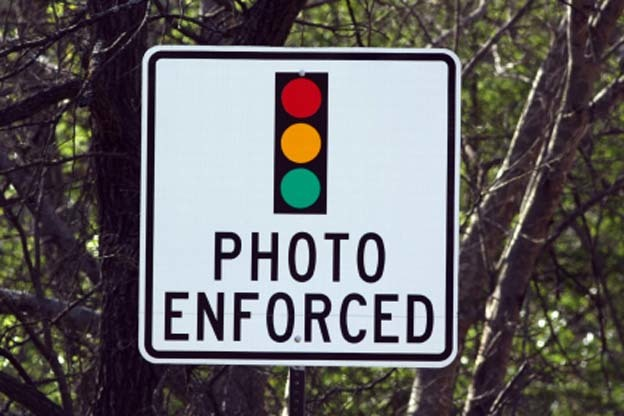 Red light camera warning