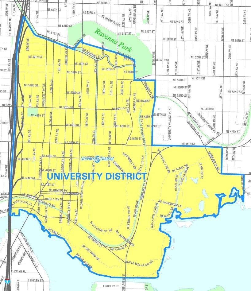 Seattle   university district map