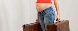 Back page flying pregnant woman full