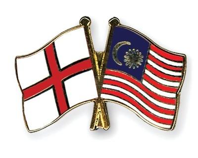 Flag pins england malaysia
