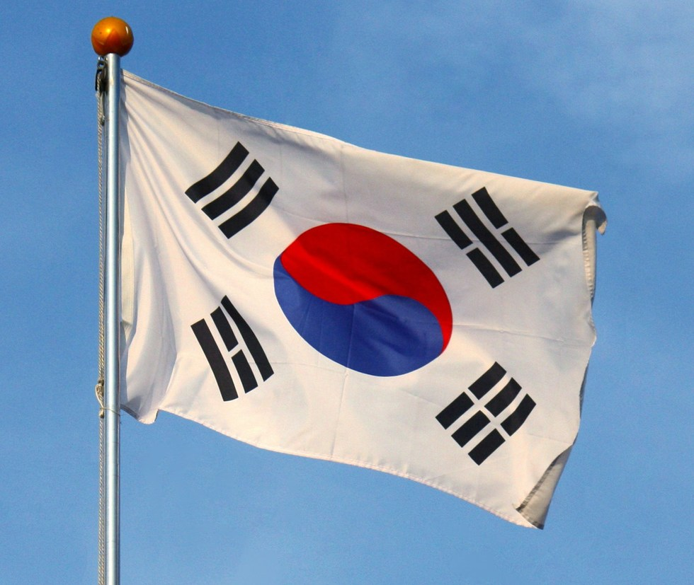 Flag of south korea cropped