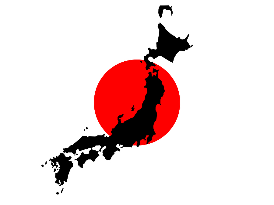 Bigstock map of japan and japanese flag 1191275