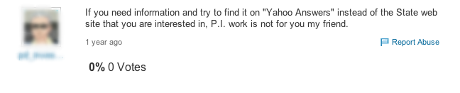 Yahoo PI answer