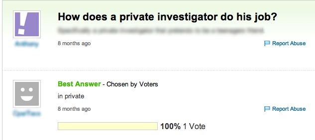 How does a private investigator do his job? question