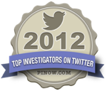 Featured on PInow.com - Top Investigators on Twitter 2012