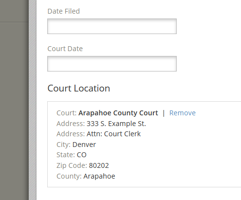 Save Court Locations