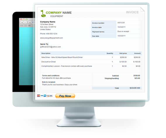 product review: paypal invoicing, Invoice templates
