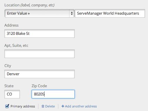 ServeManager - custom labels on addresses