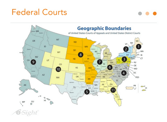 Federal Court Boundaries Map