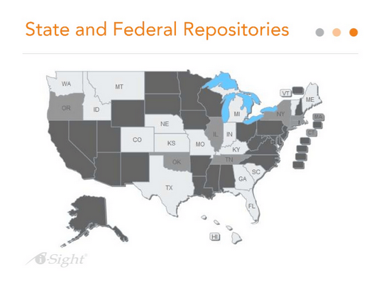 State and Federal Repositories Map