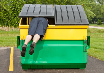 dumpster diving private investigator