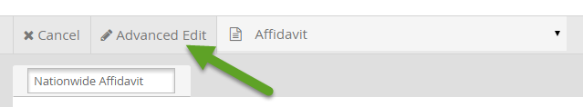 Advanced Edit Button