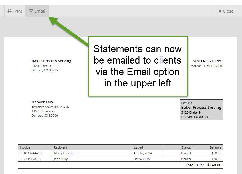 EmailStatements