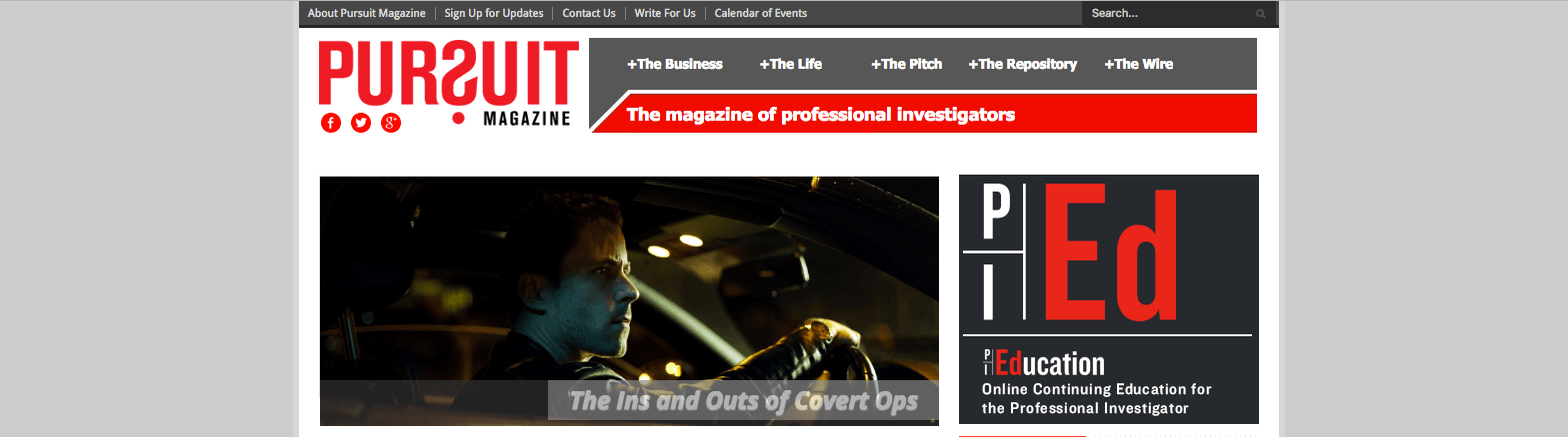 Top Private Investigation Blogs pursuitmag