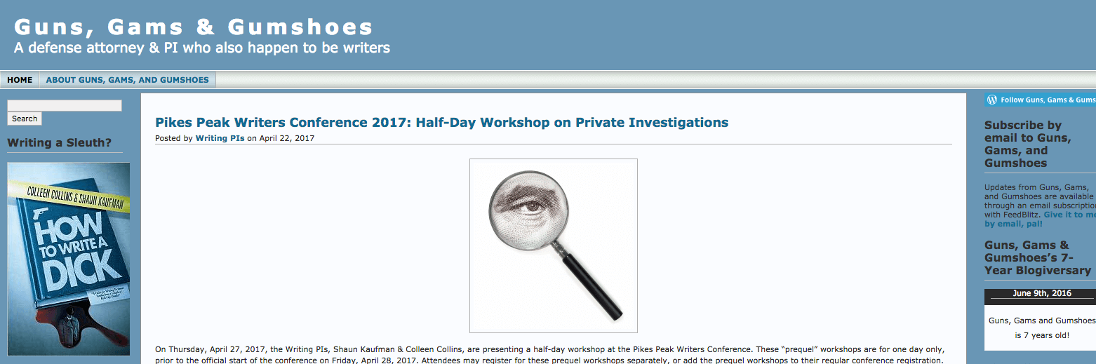 Top Private Investigation Blogs Guns, Gams & Gumshoes