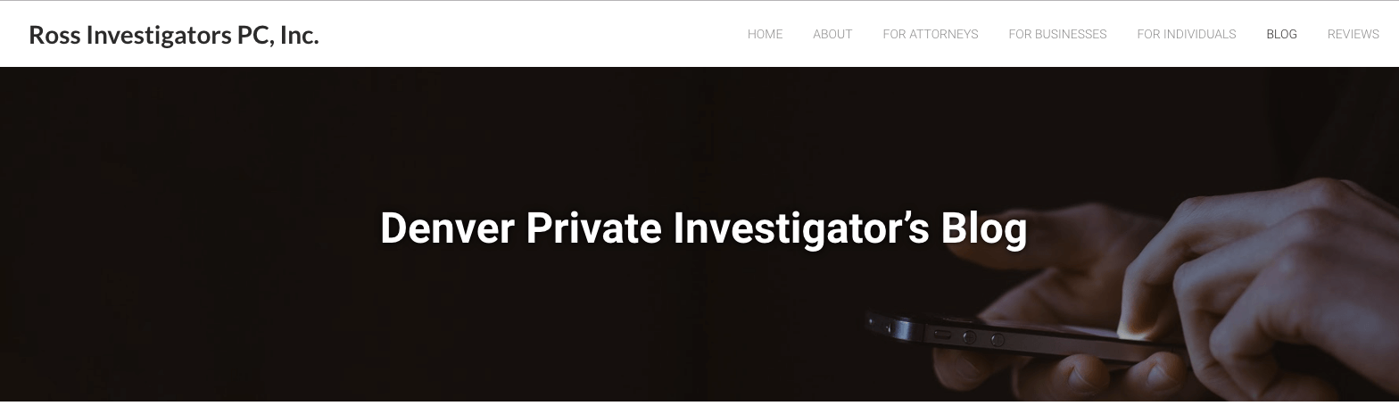 Top Investigation Blogs Denver PI
