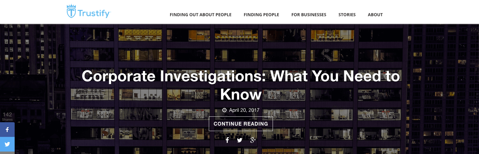 Top Investigation Blogs Trustify
