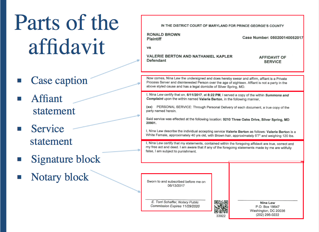 Monwealth Of Maryland Certification, Arbitration Process Parts Of An  Affidavit