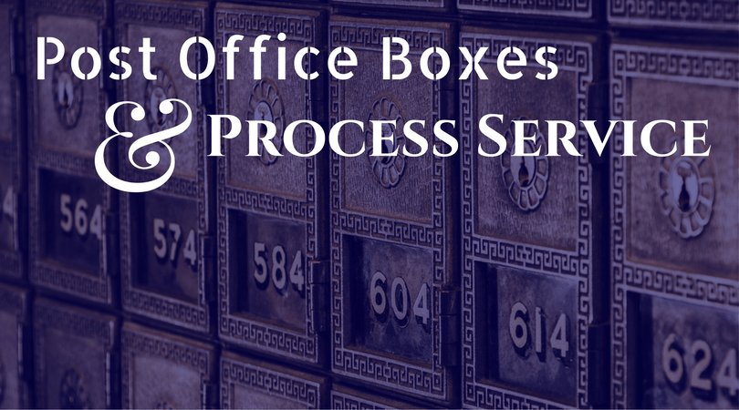 How to Serve an Individual With a Post Office Box