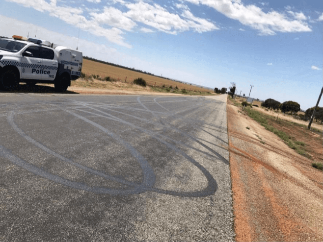 Roadway Art Tire Marks