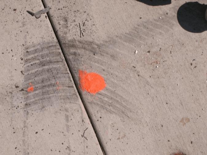 Scrub Marks Tire Marks