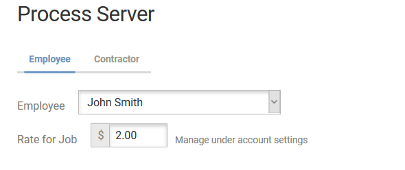 Server Pay in Job
