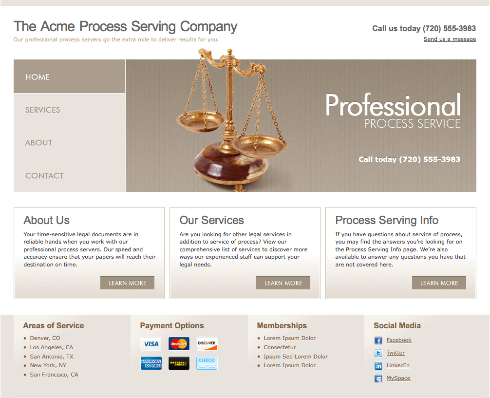 Process server website