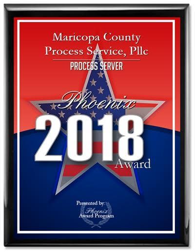 2018 Process Server Phoenix Award Winner