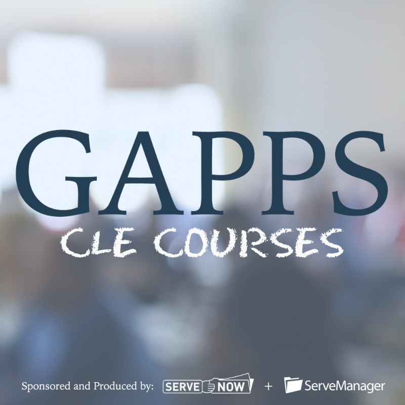 GAPPS CLE Courses