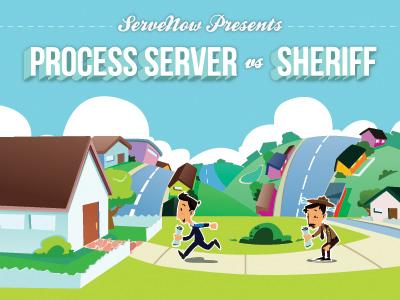 Process Servers vs. Sheriffs Infographic