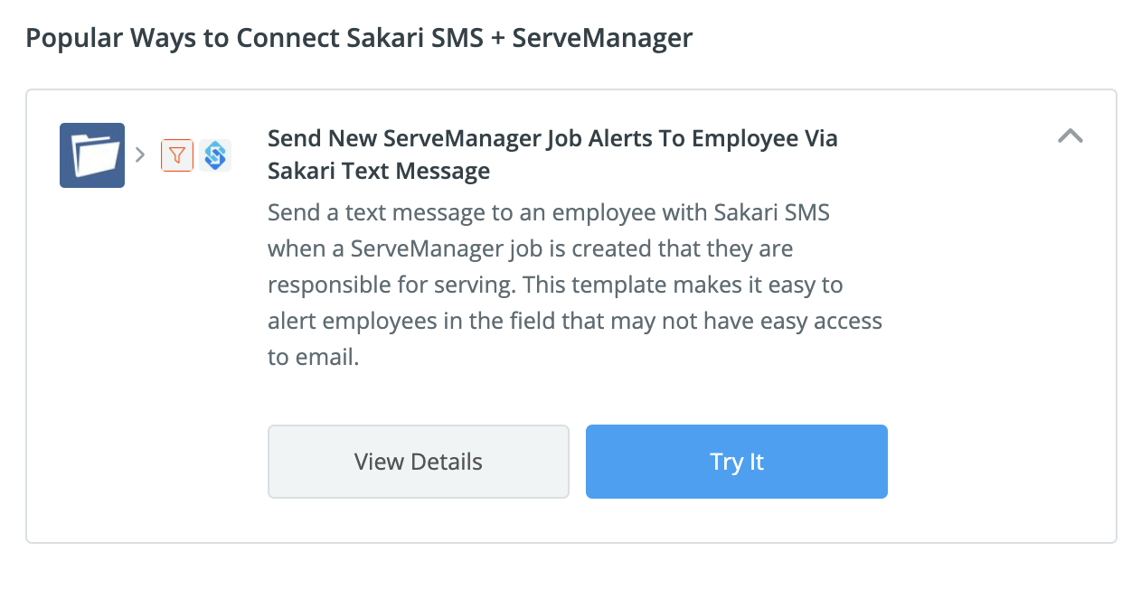Connect Sakari + ServeManager