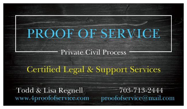 Proof of Process Business Card