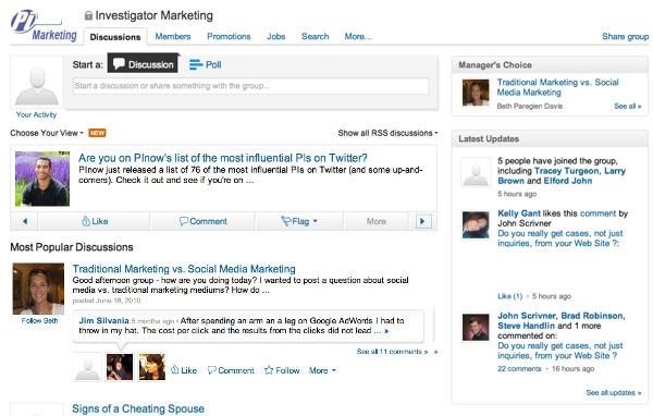 Investigator Marketing LinkedIn