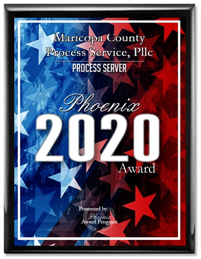 2020 Process Server Phoenix Award Winner