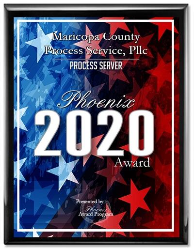 2020 Process Server Phoenix Award Winner