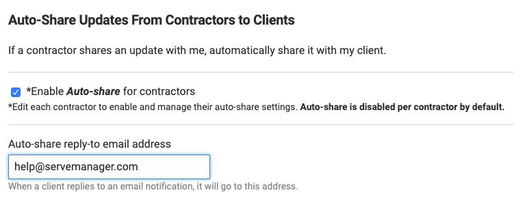 auto share updates