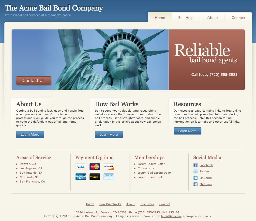 Bail Agent Website