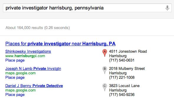 Private Investigator harrisburg, pennsylvania