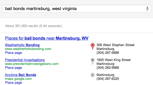 West Virginia Bail Bonds