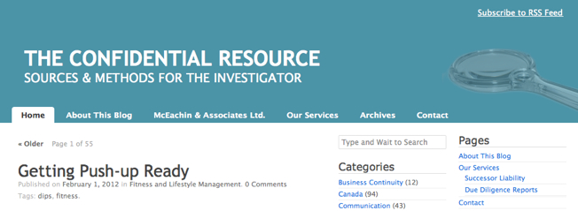 Top Investigation Blogs The Confidential Resource