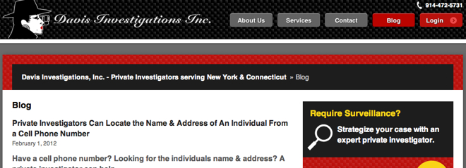 Top Investigation Blogs Davis Investigations
