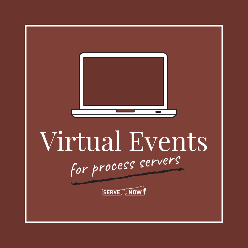 Virtual Events for Process Servers
